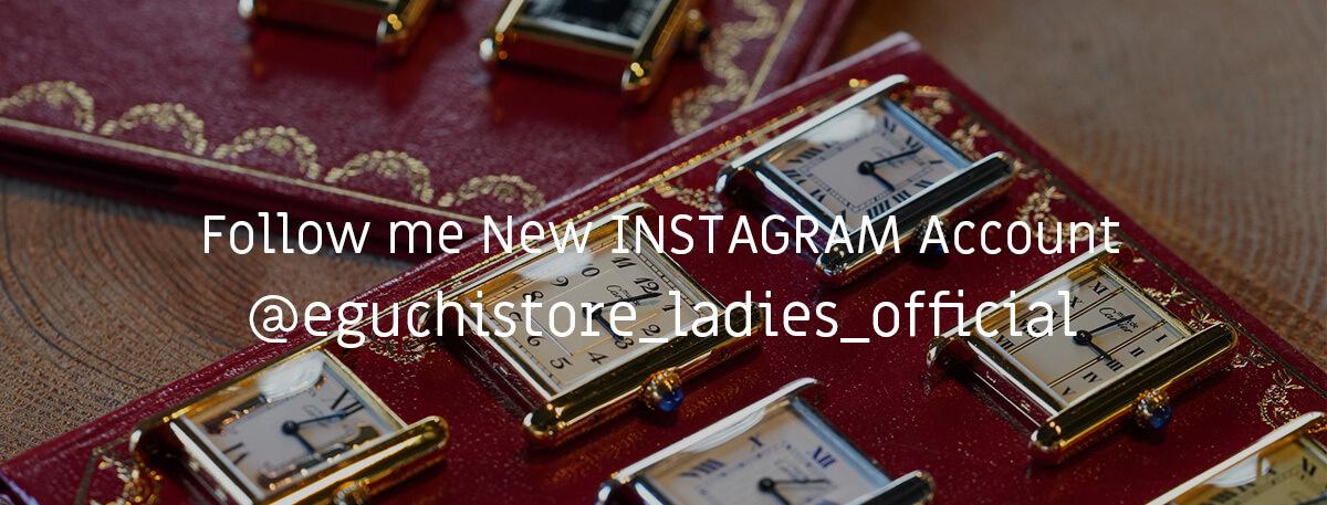 @eguchistore_ladies_official / レディースアカウント新設のお知らせ